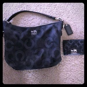 Coach Hobo purse and matching wallet